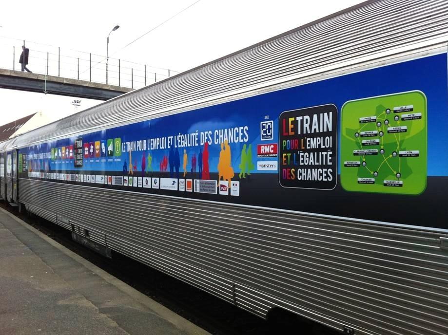 le Train pour l'Emploi et l'Egalité des chances fera son entrée en gare de Toulouse Matabiau