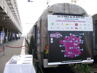 À l'occasion de la semaine de l'industrie, le train industrie et innovation sillonne la France depuis le 19 mars.