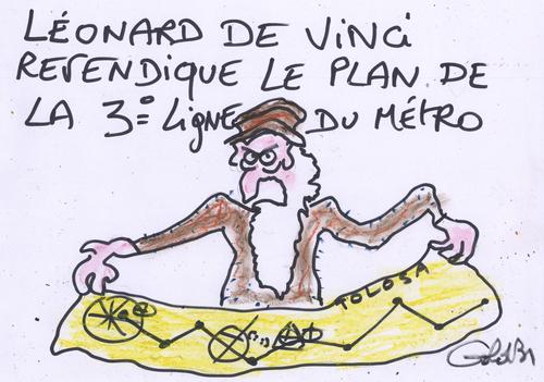 La 3ème ligne de Métro a-t-elle été imaginée par Léonard de Vinci ?!