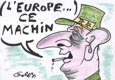 Après l'ONU, De Gaulle aurait surement traité l'Europe de Machin